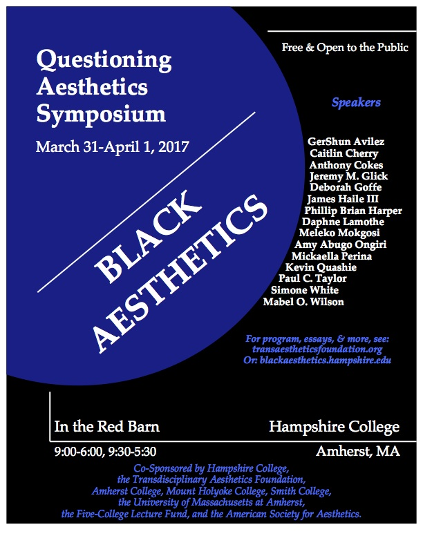 Black Aesthetics Symposium poster
