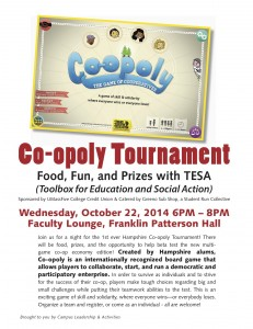 co-opoly tournament poster