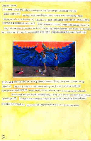 page of mural zine