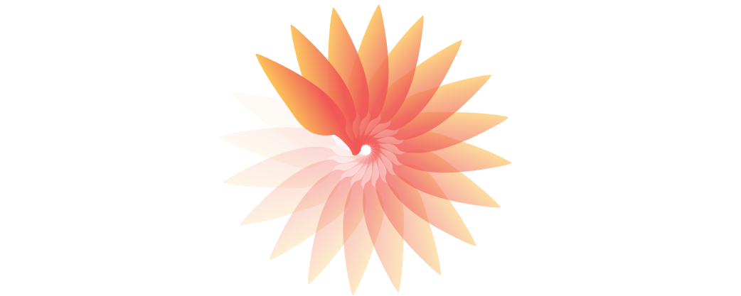 illustration of orange gradient sunburst