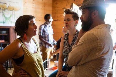 three convening participants discuss