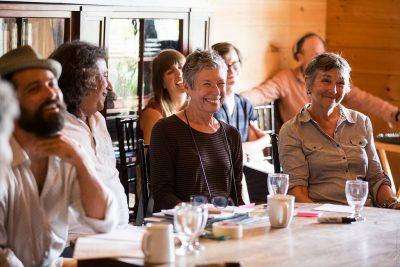 art and survival participants smiling