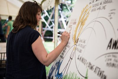 facilitator drawing visual notes