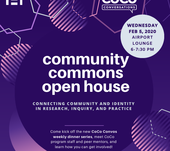 Event flyer for CoCo Open House, 2/5/20