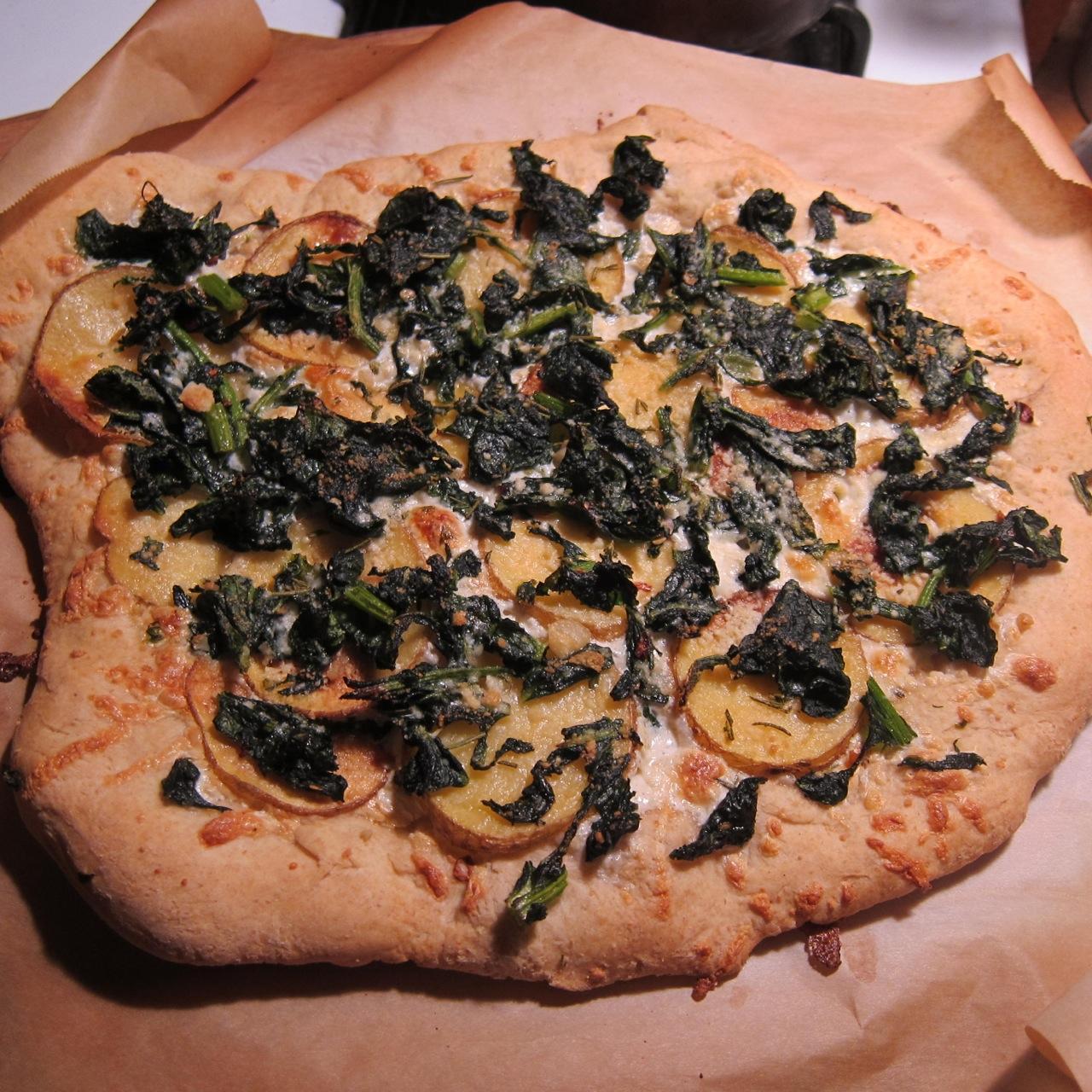Food Farm And Sustainability Broccoli Rabe Potato And Rosemary