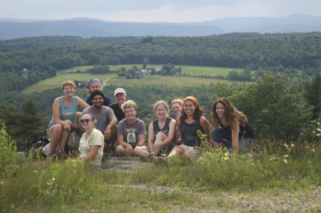 The blueberry picking crew (left to right): Victoria Dawson, Sarah Schwemberger, April Nugent, Jason Dragon, Nancy Hanson, Owen Aptekar-Cassels, Pippin Bongiovanni , Jen Porter, Shelby Gaiss, and Jess Wissemann.