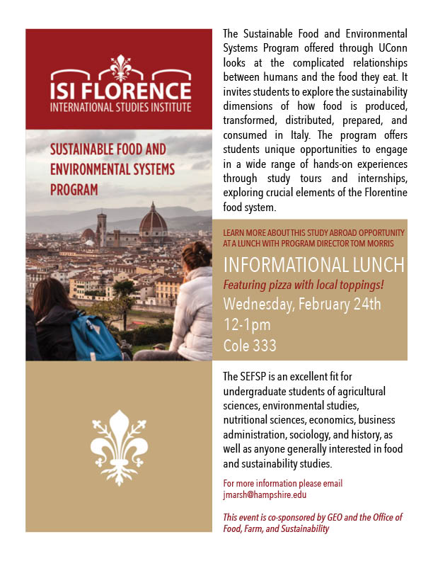 food farm and sustainability tom morris lunch flyer