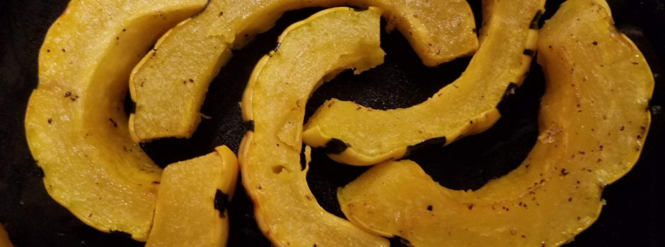 sliced delicata squash