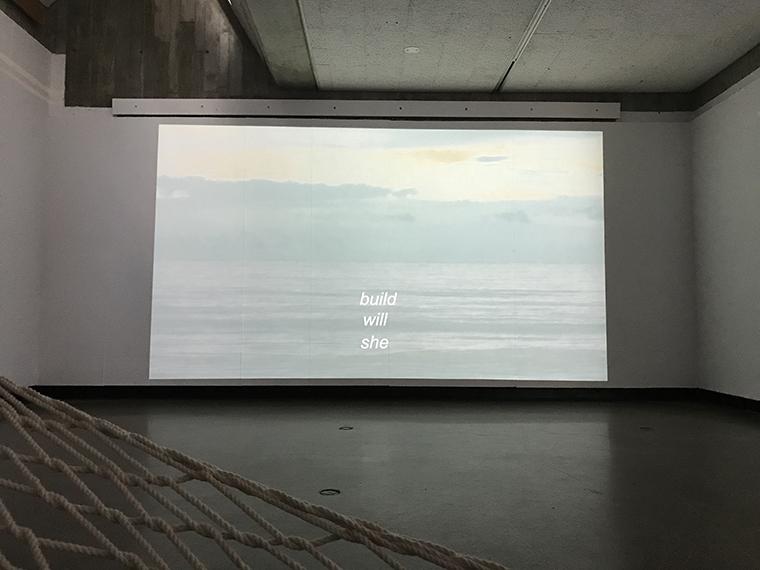 video installation she will build over ocean horizon