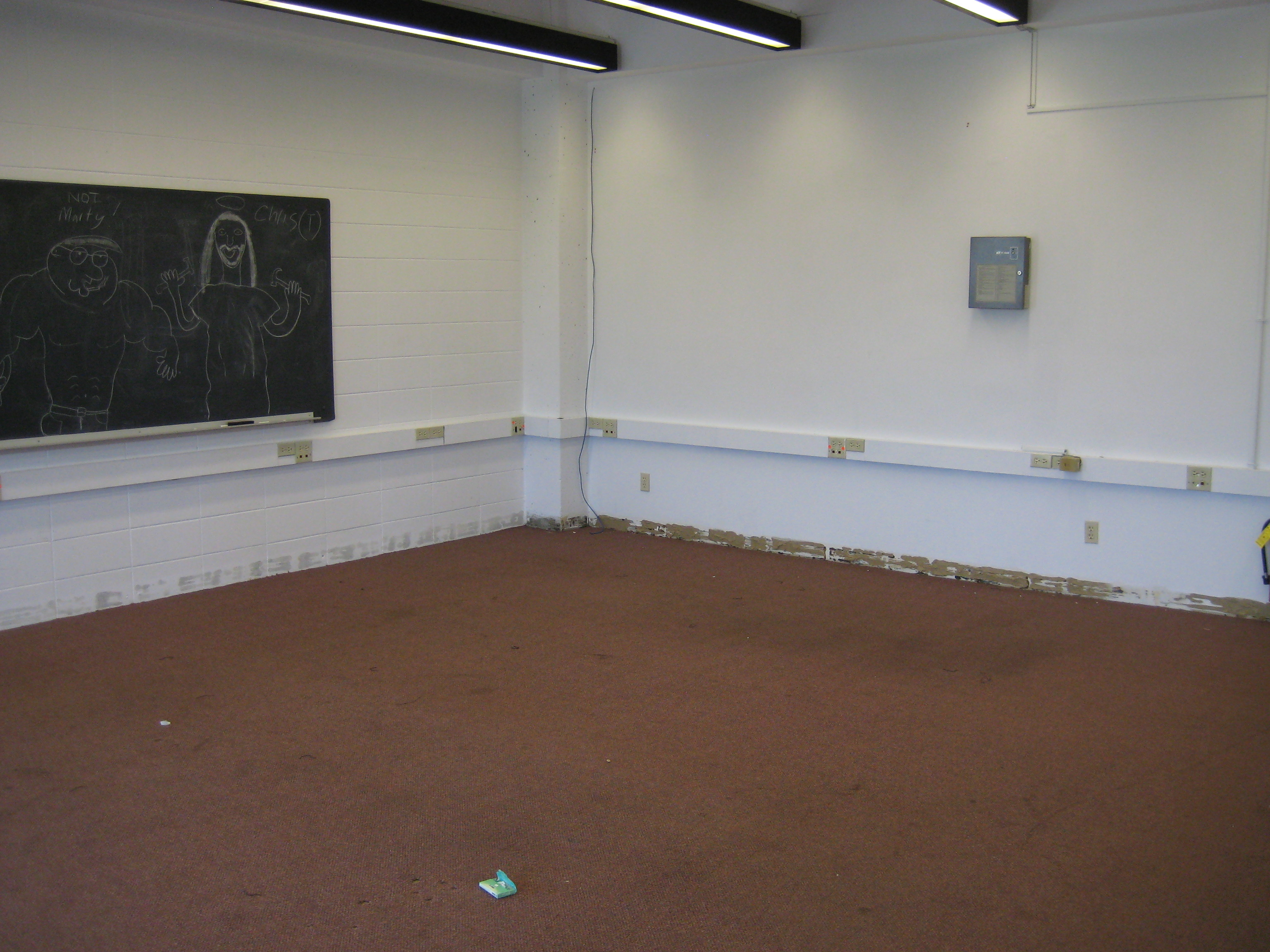the training room all emptied out.