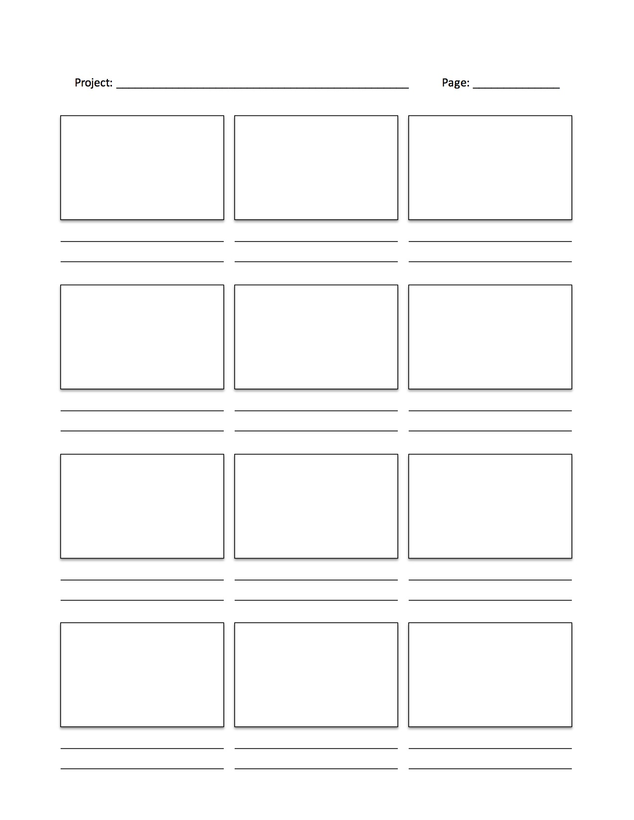 Storyboard Templates For Your Projects Library Media Labs