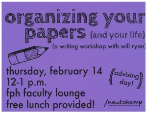 Organizing Your Papers Flyer