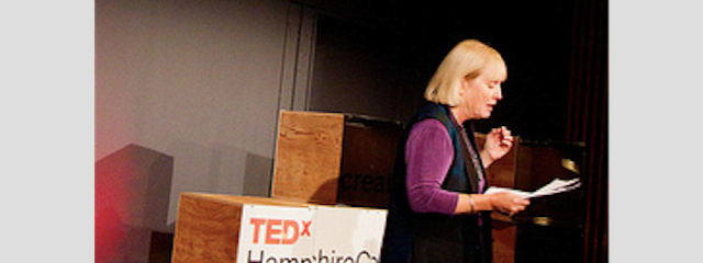 Betsy speaking at TEDx Hampshire College