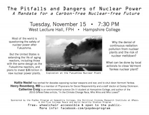 November 2011 Nuclear panel flyer
