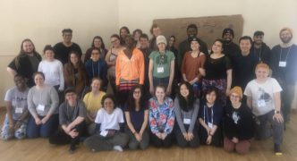 students at radical self care retreat