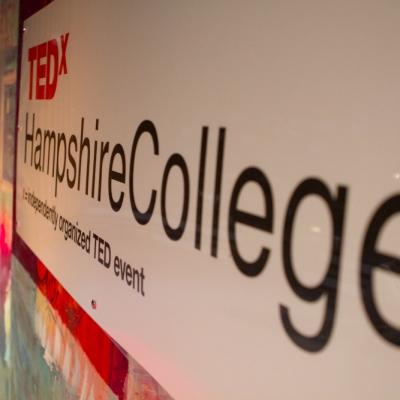 TEDxHampshireCollege sign by RJ Sakai