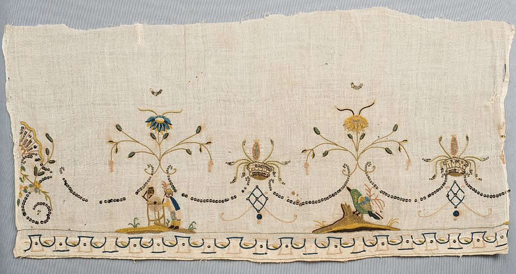 Textile fragment<br>Historic Deerfield<br>HD 97.035