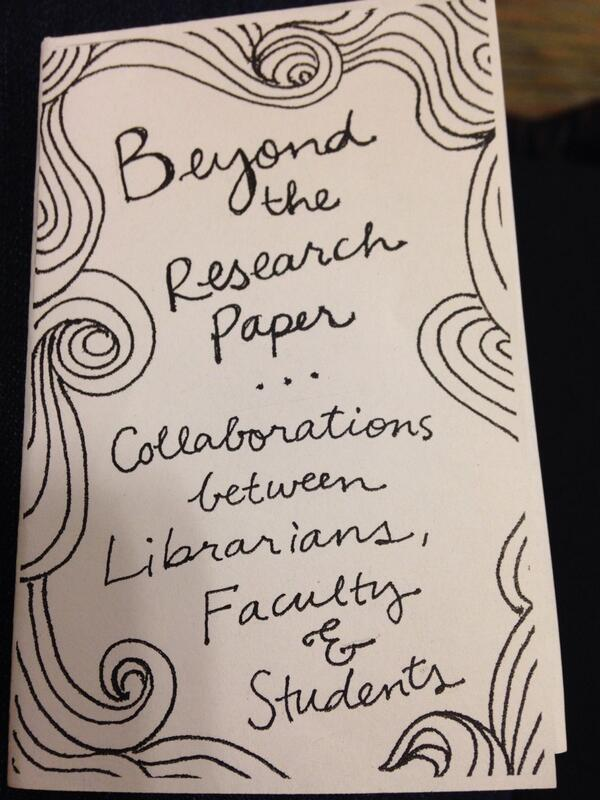 Cover of a zine made by research librarian Alana Kumbier