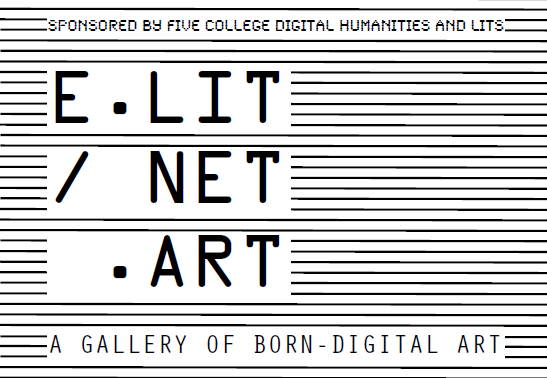 Poster of E.lit/net. Art, February 6th , at Art Gallery