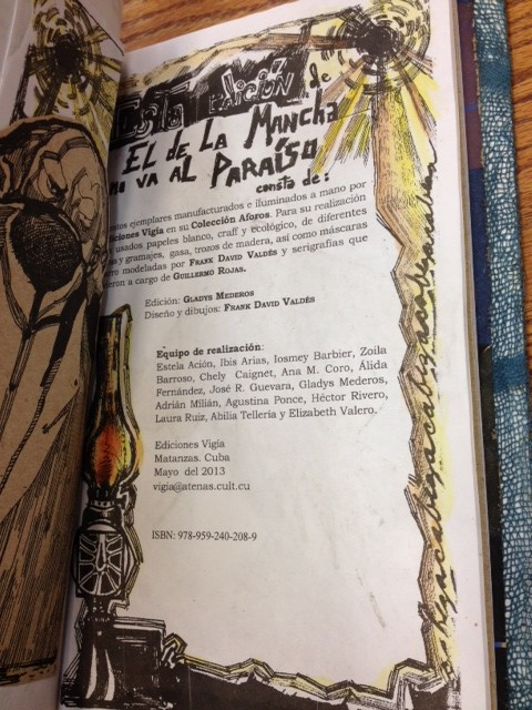 Colophon, El de La Mancha no va al Paraiso by José Milián.
