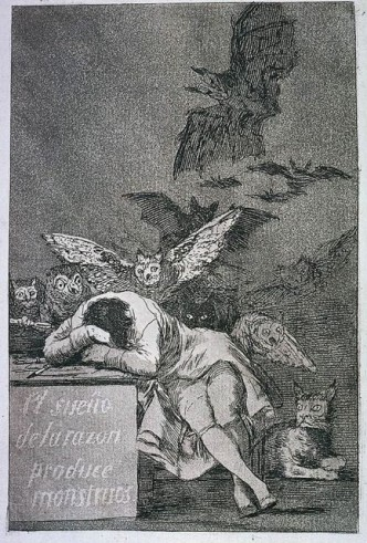 Francisco de Goya, El sueno de la razon produce monstruos, 1937 (1797)