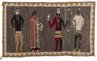 Yeibichai dance team, detail, textile