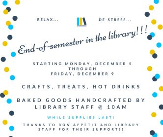 End of semester in the library