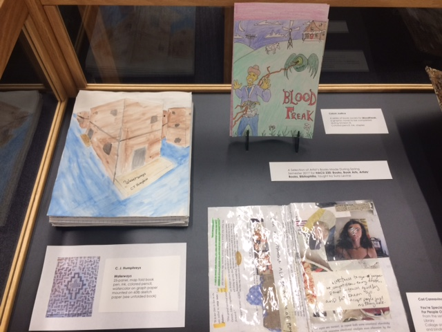 Selection of Artist's Books made during Spring semester 2017 for HACU 330 with Sura Levine