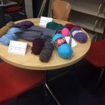 knitting supplies in the library