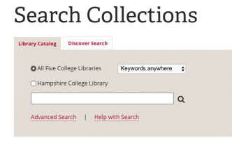 Search Collections at Hampshire College