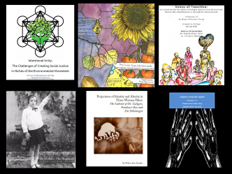 Covers of Div IIIs related to the Engage conference at Hampshire College
