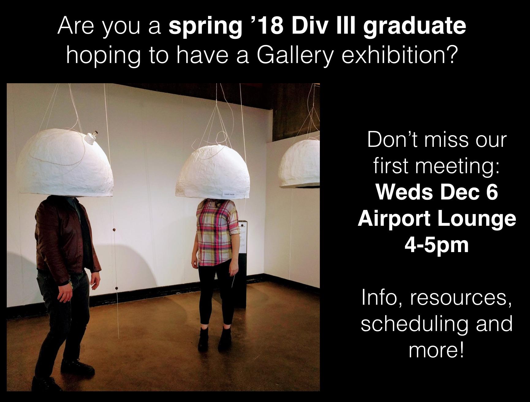 Spring '18 Div III Graduates