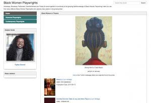 "Screenshot of ""Black Women Playwrights"" Resource Guide"