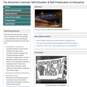 "Screenshot of ""The Movement Libguide"""