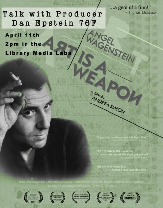 Poster for talk with Hampshire alum Dan Epstein 76F 2:00 PM Wednesday, April 11, 2018 in the Library Media Labs
