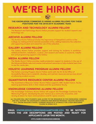 Knowledge Commons Alumni Fellow Positions