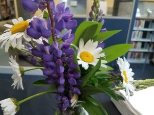Lupine and Daisies from the meadow, beautifully arranged by Rachel Beckwith.