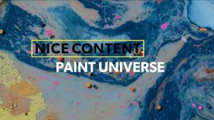 "swirled galaxy paint with title ""Nice Content: Paint Universe"""