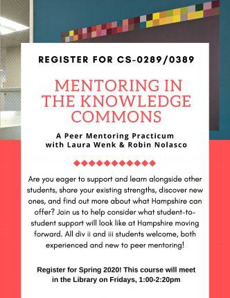 Peer mentor practicum