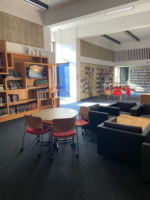 Main floor of the library- Fall 2020