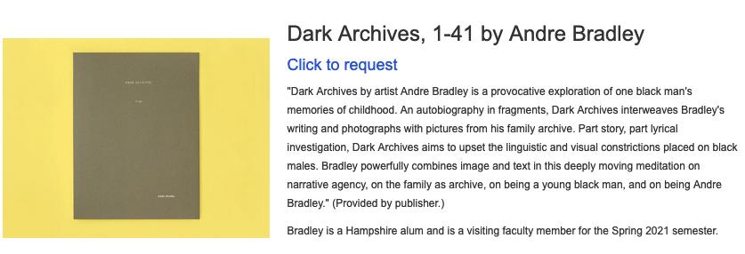 Dark Archives, 1-41 by Andre Bradley