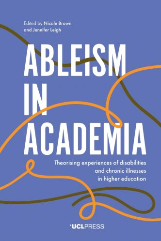 cover of Ableism in academia