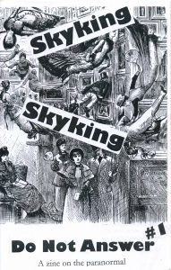 """Skyking, Skyking, Do Not Answer #1"" zine cover"