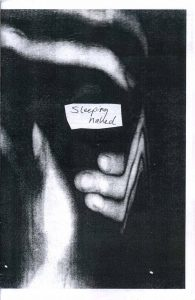 """""""Sleeping Naked"""" zine cover"""